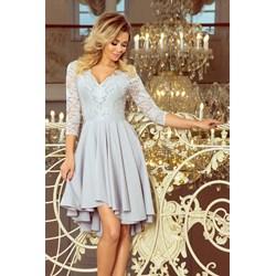 a42a68264f Sukienka Numoco koronkowa midi na wesele asymetryczna elegancka na bal