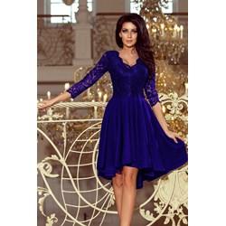 c8d2614c51 Sukienka Numoco midi z długim rękawem na sylwestra asymetryczna