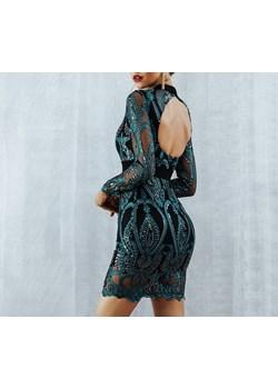 Sukienka z błyszczącymi zdobieniami  Saintshe  - kod rabatowy
