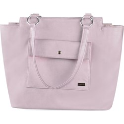 cc6616eb8ab7d Shopper bag Prettyone różowa na ramię ze skóry ekologicznej elegancka