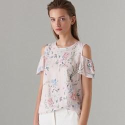 ff555fe04d Mohito bluzka damska z krótkim rękawem w kwiaty