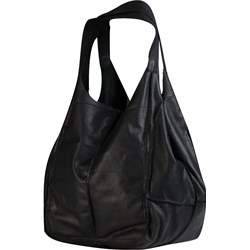 f81776825f432 Czarna shopper bag David Ryan skórzana