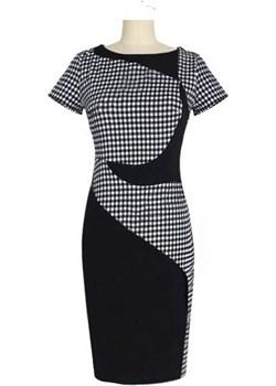 Sukienka ołówkowa z krótkim rękawem Elegancka Para  EleganckaPara.pl - kod rabatowy