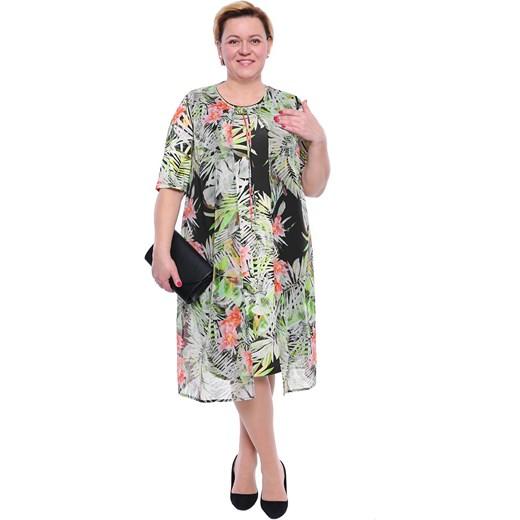 5e34a95e32 Sukienka na spacer midi w kwiaty w Domodi