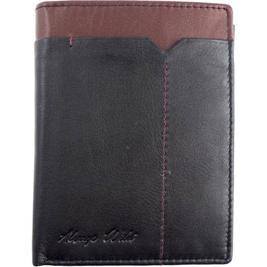 ea60345c62305 Skórzany męski portfel Always Wild 326-FS Czarny / Bordowy Galmark w ...