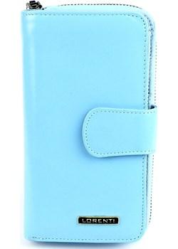 Niebieski damski portfel skórzany Lorenti 76116 NIC L.B  Lorenti Galmark - kod rabatowy