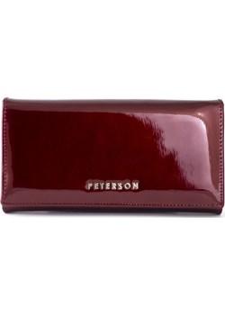 Czerwony lakierowany damski portfel skórzany Peterson BC411 R Peterson  Galmark - kod rabatowy