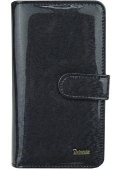 Czarny damski portfel skórzany Peterson PK 603  Peterson wyprzedaż Galmark  - kod rabatowy