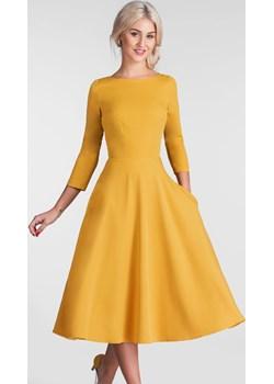 Sukienka KLARA 3/4 Total Midi Miodowy  Livia Clue  - kod rabatowy
