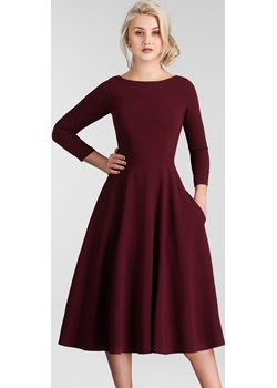 Sukienka KLARA 3/4 Total Midi Bordo  Livia Clue  - kod rabatowy
