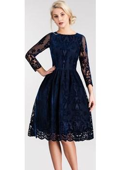 Sukienka TINA 3/4 Midi Nikoletta Granat (podkład granatowy)  Livia Clue  - kod rabatowy