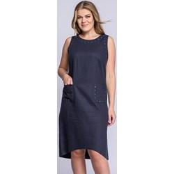 c6d2769e21 Sukienka La Venne z okrągłym dekoltem do pracy midi