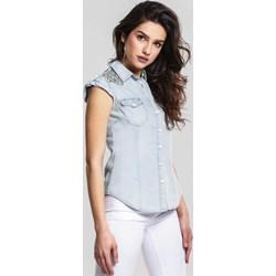 ad48f68a Koszula damska Renee jeansowa w miejskim stylu gładka