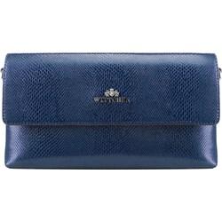 16c67b12514ad Niebieska kopertówka Wittchen do ręki elegancka