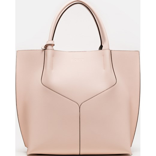 017bfd949744f Shopper bag Kazar duża bez dodatków elegancka skórzana w Domodi