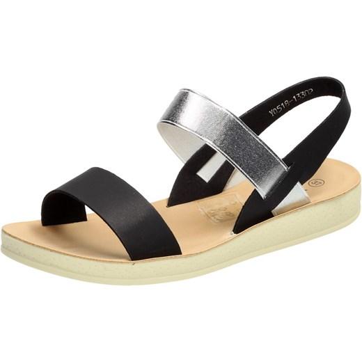 Czarne sandały, buty damskie VINCEZA 13302 zolty wyprzedaż suzana.pl Buty Damskie GM czarny Sandały damskie UHHR