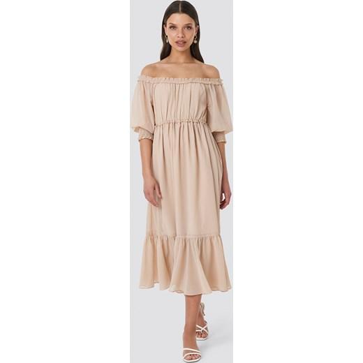 f782763815 Sukienka NA-KD na co dzień casualowa gładka z długim rękawem w Domodi