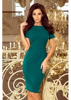 150-4 Sukienka DOROTA - elegancka - ZIELONA Numoco  MyButik.pl - kod rabatowy