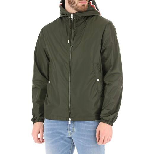 432e02121a25a ... Kurtka męska zielona Moncler w militarnym stylu jesienna ...