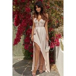 c1b22f1b5b Lou sukienka biała wyszczuplająca balowe