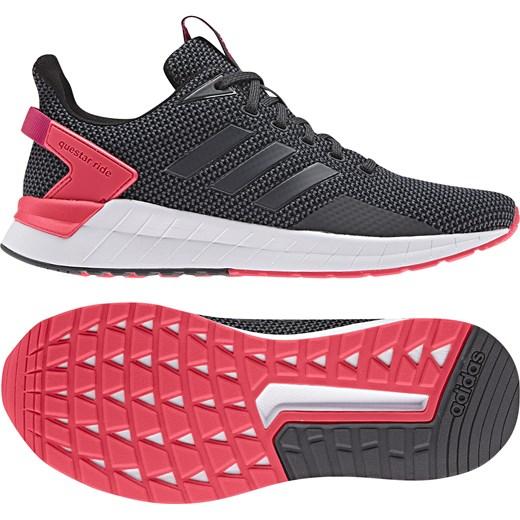 Buty sportowe damskie Adidas Performance na płaskiej podeszwie gładkie wiązane