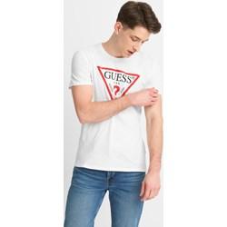 b31ccfeea4e68 T-shirt męski Guess z napisem z krótkim rękawem