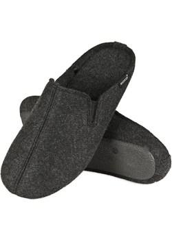 Kapcie filcowe męskie SOXO czarne z twardą podeszwą  Soxo Sklep SOXO - kod rabatowy