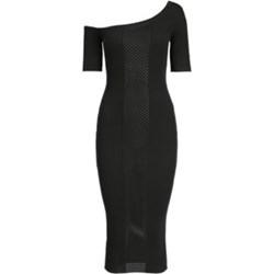 864702de36 Sukienka Pinko midi bez wzorów asymetryczna