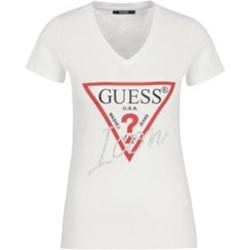 d385af94f675d Bluzka damska Guess z krótkimi rękawami w stylu młodzieżowym