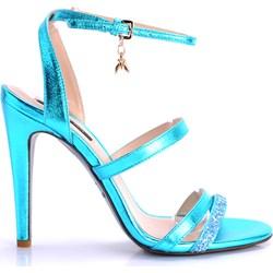 45b777d317a14 Patrizia Pepe sandały damskie eleganckie na szpilce skórzane bez zapięcia  bez wzorów