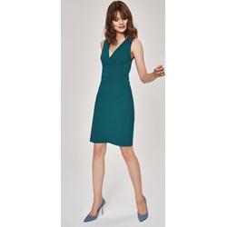 327283feba Sukienka Femestage do pracy bez wzorów trapezowa