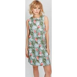 ad8c68041 Femestage sukienka casual z okrągłym dekoltem na spacer mini prosta