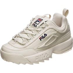 fc08ab7ead6ef Sneakersy damskie Fila skórzane gładkie płaskie