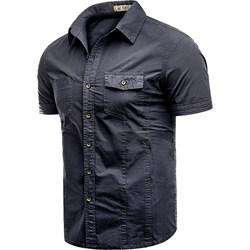 815a971e5a Koszula męska Risardi z krótkim rękawem bez wzorów