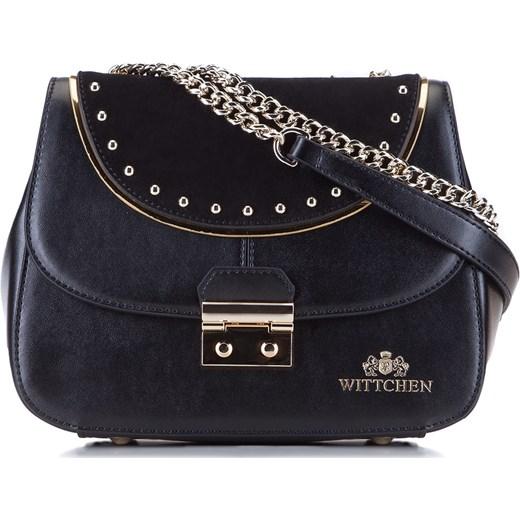 423ce214f7a24 Listonoszka Wittchen czarna skórzana średnia elegancka na ramię w Domodi