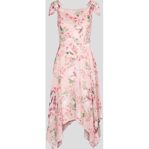 57a27f699f ORSAY sukienka różowa na spacer asymetryczna w kwiaty w Domodi