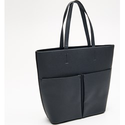 1d6bfd99283e2 Shopper bag czarna Cropp duża na ramię bez dodatków