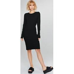 f1955f44c8 Sukienka czarna Femestage do pracy bez wzorów z dzianiny