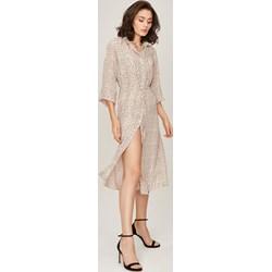 187afd6949 Sukienka Femestage z długim rękawem midi prosta