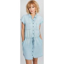 aeab297ca6 Femestage sukienka mini dzienna jeansowa