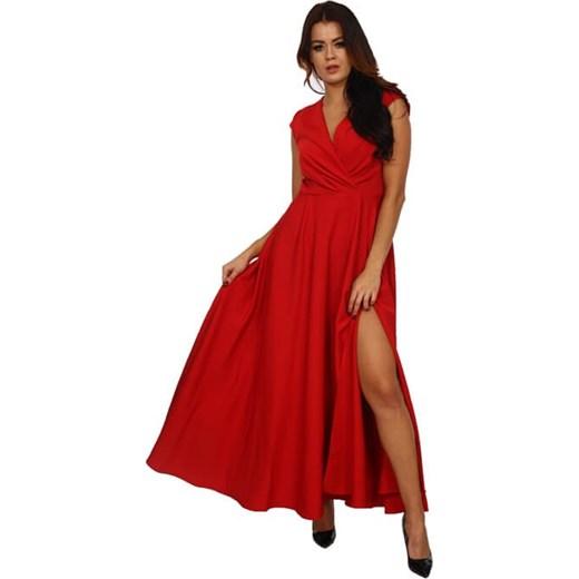 9e04b46416 Sukienka elegancka na bal czerwona maxi w Domodi