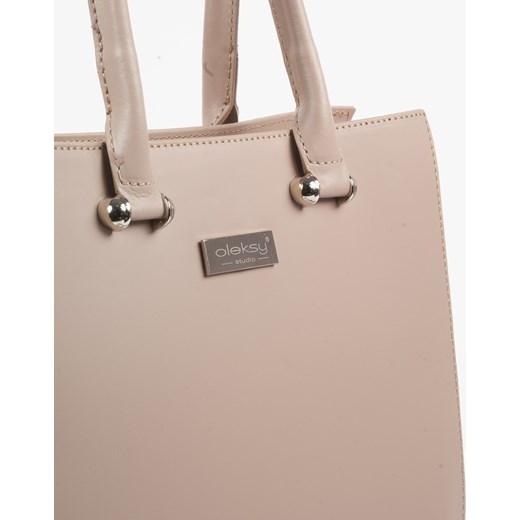 50741d16859f0 ... Shopper bag Oleksy skórzana bez dodatków ...