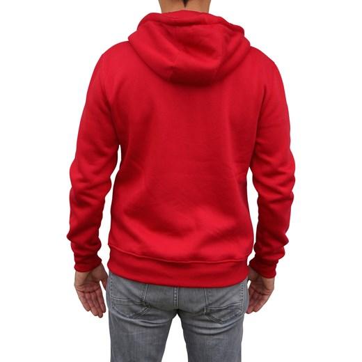 Bluza męska z kapturem Underworld czerwony morillo