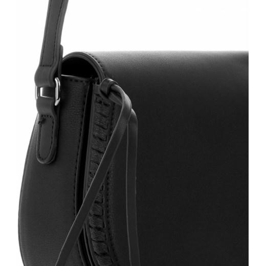 785c38dc54076 ... Listonoszka czarna Diana&Co elegancka na ramię z aplikacjami ...