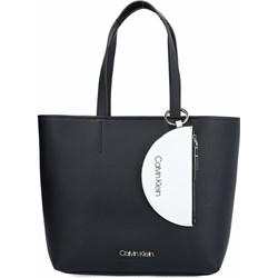 0483b516c35f1 Shopper bag Calvin Klein na ramię elegancka matowa duża