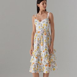 6999e70f7b Sukienka Mohito w kwiaty bawełniana maxi