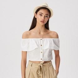 983bd7d357 Bluzka damska Sinsay młodzieżowa biała letnia z krótkimi rękawami