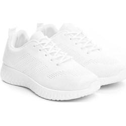 021a45ec6182 Buty sportowe damskie Renee białe płaskie sznurowane