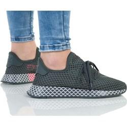30c934b07cc50 Buty sportowe damskie Adidas na płaskiej podeszwie wiązane gładkie