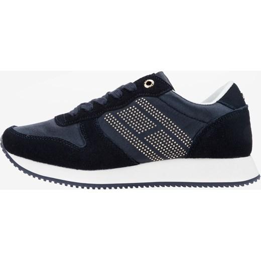 9d787807d79e4 Buty sportowe damskie Tommy Hilfiger w stylu młodzieżowym sznurowane na  płaskiej podeszwie bez wzorów na wiosnę